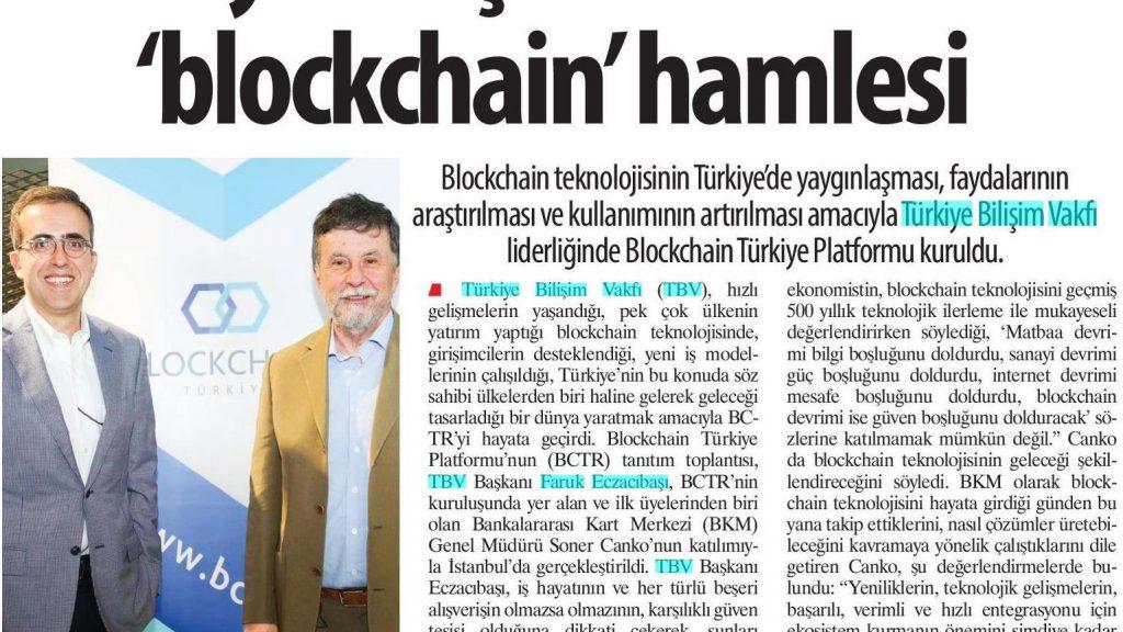 Türkiye Bilişim Vakfı'ndan 'blockchain' hamlesi