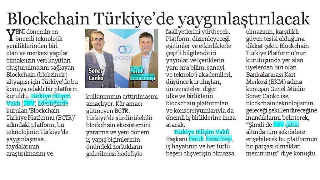 Blockchain Türkiye'de yaygınlaştırılacak