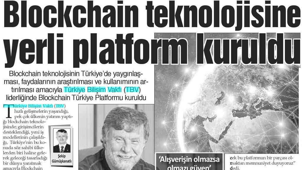 Blockchain teknolojisine yerli platform kuruldu