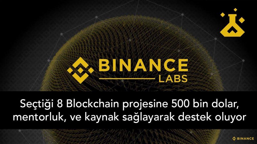 Binance Labs ilk 8 projesini seçti