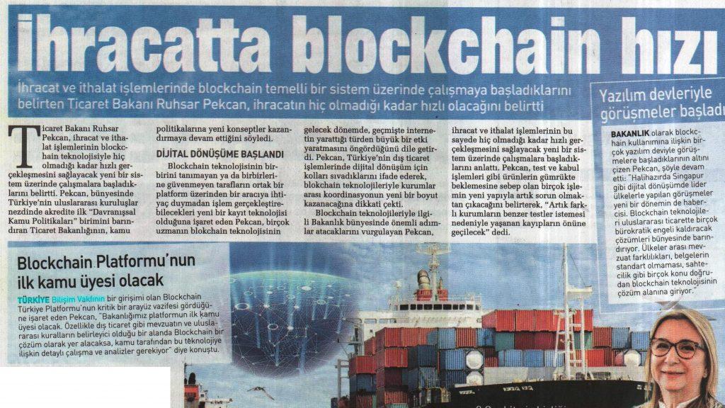 İhracatta blockchain hızı