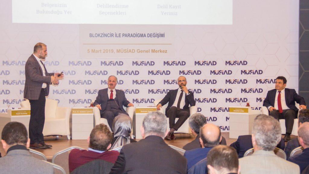 """MÜSİAD """"Blokzincir ile Paradigma Değişimi"""" konulu panel düzenledi"""